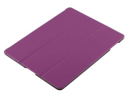 Premium Slim Synthetic Leather Flip Case with Stand for iPad 2/3/4 - Purple