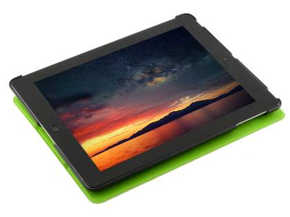 Premium Slim Synthetic Leather Flip Case with Stand for iPad 2/3/4 - Green