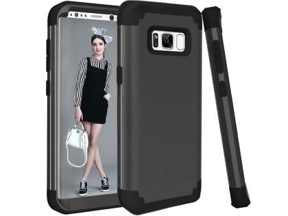 Defender Case for Samsung Galaxy S8+ - Classic Black Impact Case