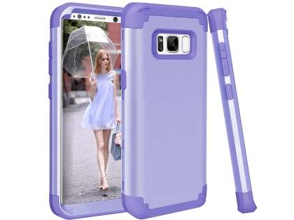 Defender Case for Samsung Galaxy S8+ - Lilac Impact Case