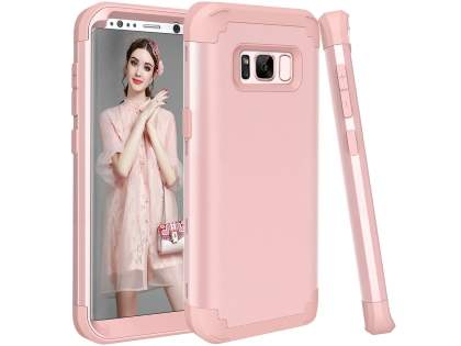 Defender Case for Samsung Galaxy S8+ - Metallic Pink Impact Case