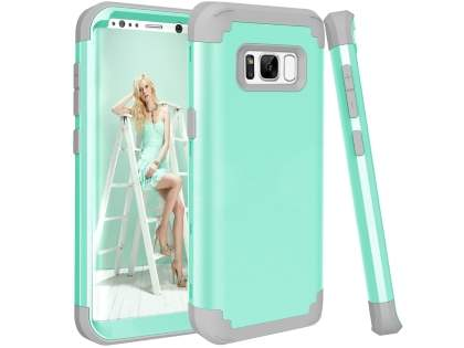 Defender Case for Samsung Galaxy S8+ - Mint/Grey Impact Case