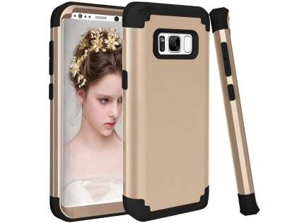 Defender Case for Samsung Galaxy S8+ - Gold/Black Impact Case