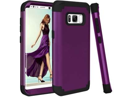 Defender Case for Samsung Galaxy S8 - Plum/Black Impact Case