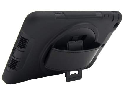 Rugged Handholder Case for iPad 2/3/4 - Classic Black Impact Case