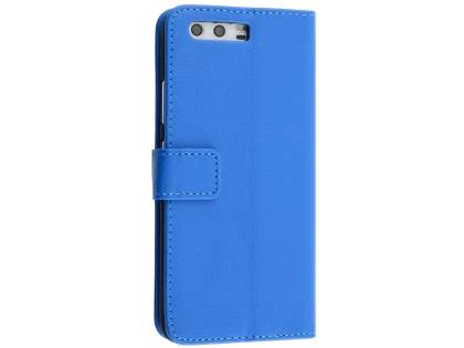 Synthetic Leather Wallet Case with Stand for Huawei P10 - Blue Leather Wallet Case
