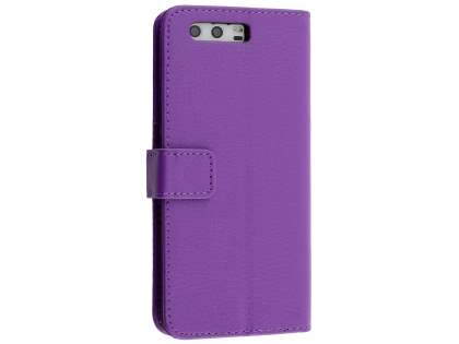 Synthetic Leather Wallet Case with Stand for Huawei P10 - Purple Leather Wallet Case