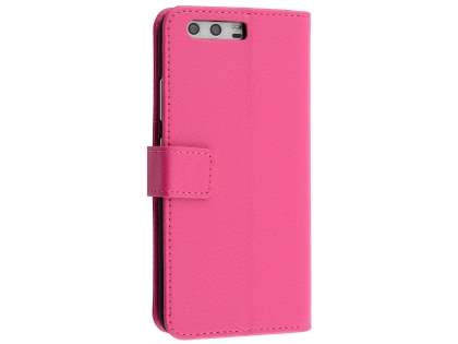 Synthetic Leather Wallet Case with Stand for Huawei P10 - Pink Leather Wallet Case