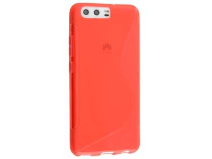 Wave Case for Huawei P10 - Frosted Red/Red Soft Cover