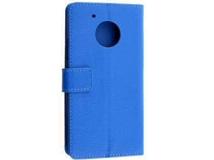 Slim Synthetic Leather Wallet Case with Stand for Motorola Moto G5 Plus - Blue Leather Wallet Case
