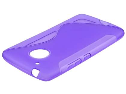 Wave Case for Motorola Moto G5 - Frosted Purple/Purple Soft Cover