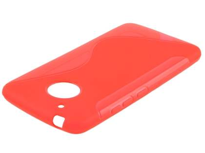 Wave Case for Motorola Moto G5 - Frosted Red/Red Soft Cover