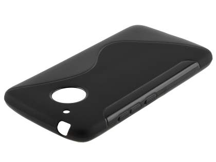 Wave Case for Motorola Moto G5 - Frosted Black/Black Soft Cover