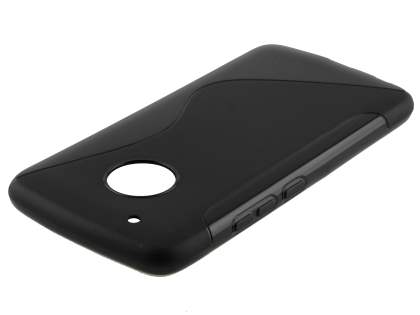 Wave Case for Motorola Moto G5 Plus - Frosted Black/Black Soft Cover
