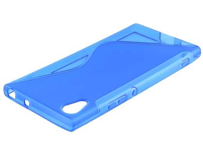 Wave Case for Sony Xperia XA1 - Frosted Blue/Blue Soft Cover