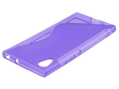 Wave Case for Sony Xperia XA1 - Frosted Purple/Purple Soft Cover