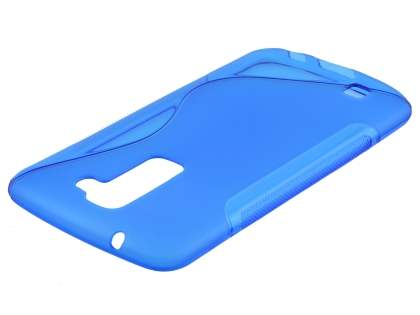 LG K10 Wave Case - Frosted Blue/Blue Soft Cover