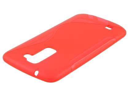 LG K10 Wave Case - Frosted Red/Red Soft Cover