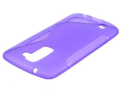 LG K10 Wave Case - Frosted Purple/Purple Soft Cover