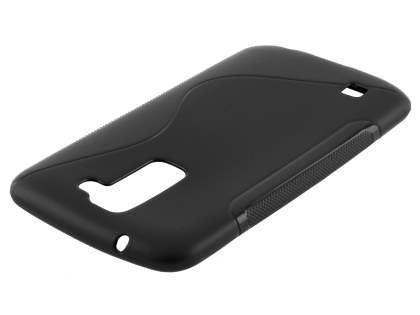 LG K10 Wave Case - Frosted Black/Black Soft Cover
