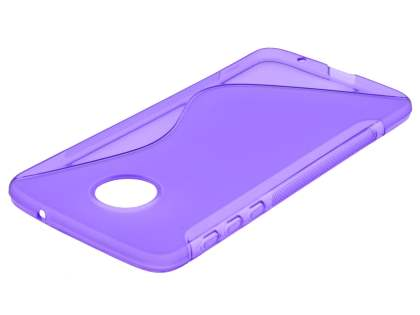 Wave Case for Motorola Moto Z - Frosted Purple/Purple Soft Cover