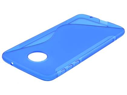 Wave Case for Motorola Moto Z - Frosted Blue/Blue Soft Cover