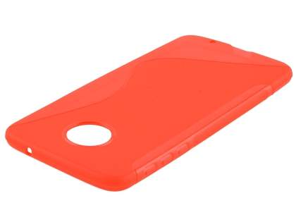 Wave Case for Motorola Moto Z - Frosted Red/Red Soft Cover
