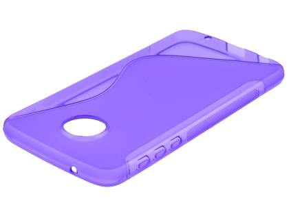 Wave Case for Motorola Moto Z Play - Frosted Purple/Purple Soft Cover