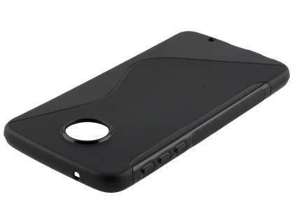 Wave Case for Motorola Moto Z Play - Frosted Black/Black Soft Cover