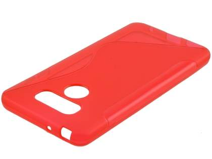 Wave Case for LG G6 - Frosted Red/Red