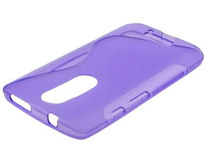 Wave Case for Motorola Moto X Force - Frosted Purple/Purple Soft Cover