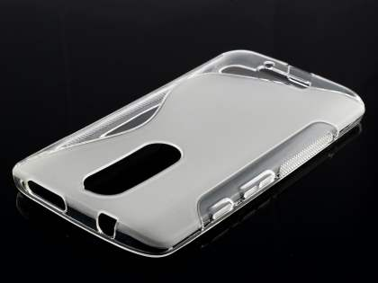 Wave Case for Motorola Moto X Force - Frosted Clear/Clear Soft Cover