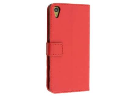 Slim Synthetic Leather Wallet Case with Stand for Sony Xperia Z5 Premium - Red Leather Wallet Case