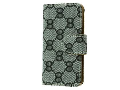 Synthetic Leather Wallet Case for iPhone SE/5s/5 - Light Grey