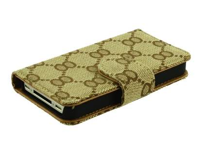 Synthetic Leather Wallet Case for Apple iPhone 4s/4 - Light Brown