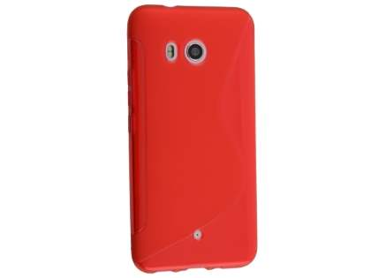 Wave Case for HTC U11 - Frosted Red/Red Soft Cover