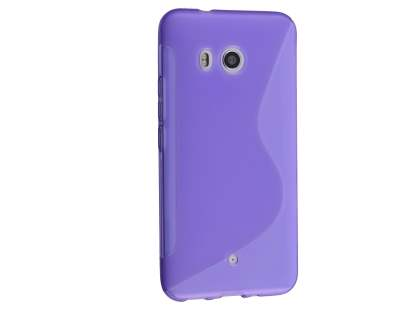 Wave Case for HTC U11 - Frosted Purple/Purple Soft Cover