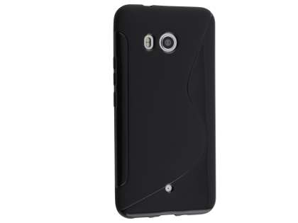 Wave Case for HTC U11 - Frosted Black/Black Soft Cover