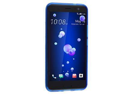 Wave Case for HTC U11 - Frosted Blue/Blue Soft Cover
