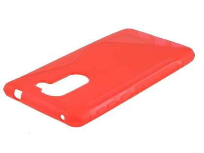 Wave Case for Huawei GR5 2017 - Frosted Red/Red Soft Cover