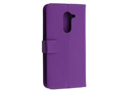Synthetic Leather Wallet Case with Stand for Huawei GR5 2017 - Purple Leather Wallet Case