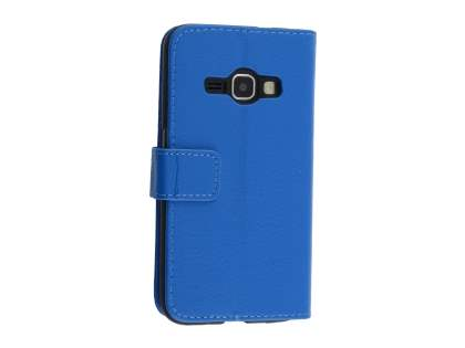 Synthetic Leather Wallet Case with Stand for Samsung Galaxy J3 (2016) - Blue Leather Wallet Case