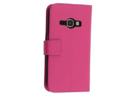 Synthetic Leather Wallet Case with Stand for Samsung Galaxy J3 (2016) - Pink Leather Wallet Case
