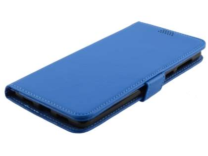 Synthetic Leather Wallet Case with Stand for Huawei GR5 2017 - Blue