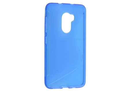 Wave Case for HTC One X10 - Frosted Blue/Blue Soft Cover
