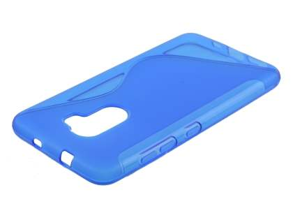 Wave Case for HTC One X10 - Frosted Blue/Blue