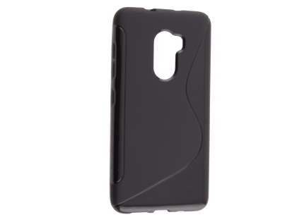 Wave Case for HTC One X10 - Frosted Black/Black Soft Cover