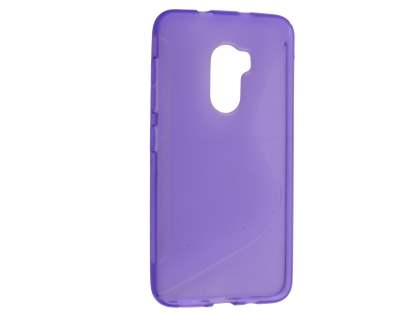 Wave Case for HTC One X10 - Frosted Purple/Purple Soft Cover