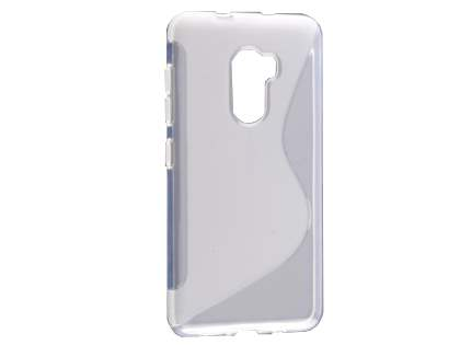 Wave Case for HTC One X10 - Frosted Clear/Clear Soft Cover