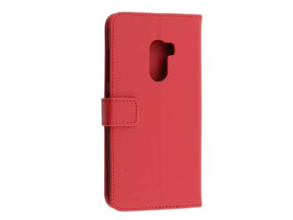 Synthetic Leather Wallet Case with Stand for HTC One X10 - Red Leather Wallet Case